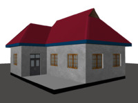 old house 3d obj