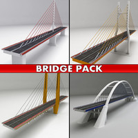 3d pack suspended bridges model