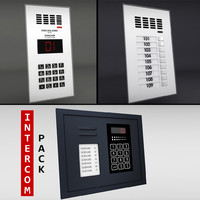 pack intercoms 3d model