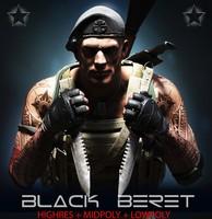 3d model special black beret