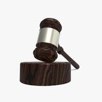 gavel wood 3d 3ds