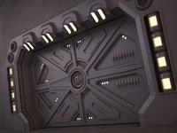 3d model sci-fi door 02