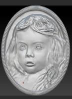bas-relief girl 3d model