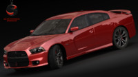 3d model dodge charger srt-8 2012