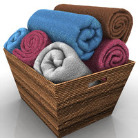 3d model of towels