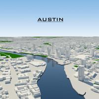 3d model austin cityscape