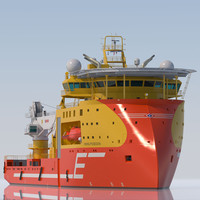 3d offshore construction vessel