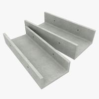 3d concrete drain model