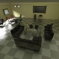 sitting area expert 3d model