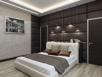 3d model modern bedroom interior