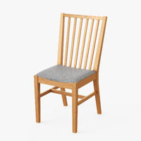 realistic dining chair 3d model
