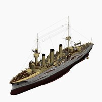 protected cruiser victoria louise 3d model