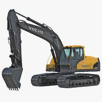 tracked excavator ec144d 3d max
