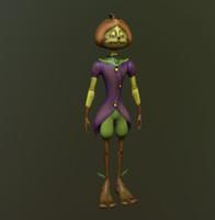 fbx pumpkin character