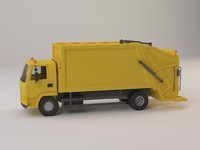 truck garbage 3d max
