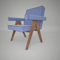 3ds max pierre jeanneret chair lounge