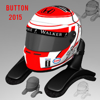 3d 3ds jenson button helmet 2015