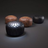 Moroccan-leather-pouffe