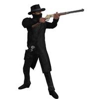 3d model cowboy rigged