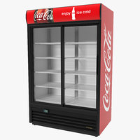 3d coca cola double door