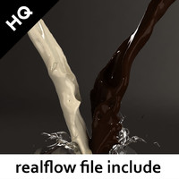splash realflow flow 3d max