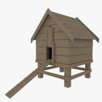 chicken coop 3d model