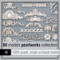 pearlworks 60 items 3d model