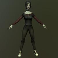 vampire character 3d model