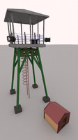 observation tower 3d model