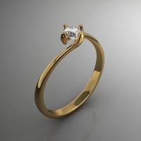 3d model of gem ring