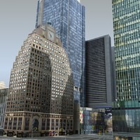 3d model of new york -2 square