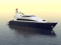 3d model luxury yacht
