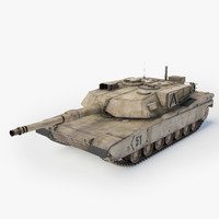 3d abrams a1 battle tank model