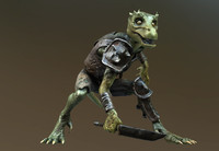 3d kobold lizard gen games model
