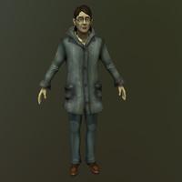 short coat 3d model