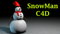snow man character 3d model