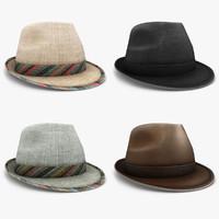modern hat set 3d max