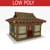 China house low poly