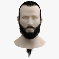 moustaches beard hair tail 3d max