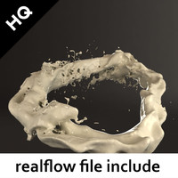 splash realflow flow 3d model