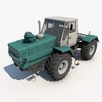 3d model old tractor t-150