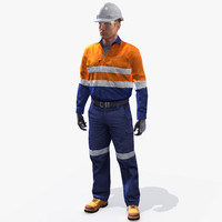 humanik safety worker 3d max