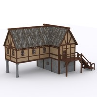 medieval village house 1 3d max