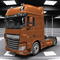 3d model daf xf euro 6