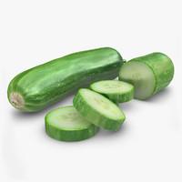 3d realistic cucumber model