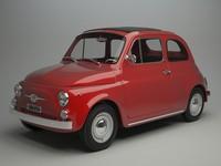 3d model fiat 500 f 1965