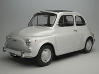 3d model fiat 500 r 1975
