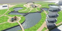 landscape park 3d max