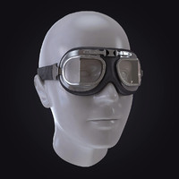 3d model of motorcycle pilot glasses