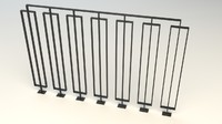 3d model of steel railing